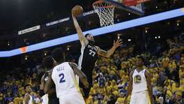 Spurs center Joffrey Lauvergne missed the last two games after a death in his family. He finished with two points in Game 1.