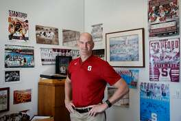 Senior Associate Athletics Director Earl Koberlein is photographed in his office on Tuesday, April 17, 2018, at the Arrillaga Family Sports Center, Stanford University in Stanford, California.