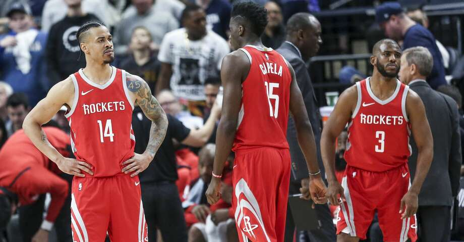 Houston Rockets guard Gerald Green (14) reacts after a foul call as the Houston Rockets lose to the Minnesota Timberwolves 121-105 in Game 3 of the first round of the NBA Playoffs at Target Center Saturday, April 21, 2018 in Minneapolis. (Michael Ciaglo / Houston Chronicle) Photo: Michael Ciaglo/Houston Chronicle
