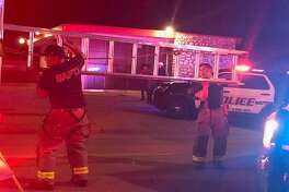 San Antonio police say officers found a body after hearing a gunshot near an East Side pizzeria Saturday night, April 21, 2018.