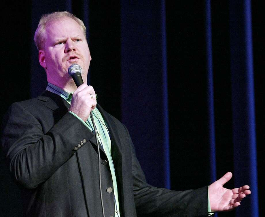 Stand-up comedian Jim Gaffigan performs to a sold out crowd Friday, Feb. 2, 2007, at Truman State University in Kirksville, Mo. (AP Photo/Al Maglio) Photo: Al Maglio, STR / AP / AP