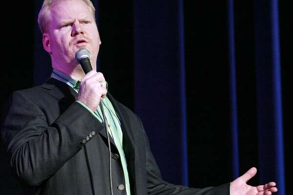 Stand-up comedian Jim Gaffigan performs to a sold out crowd Friday, Feb. 2, 2007, at Truman State University in Kirksville, Mo. (AP Photo/Al Maglio)