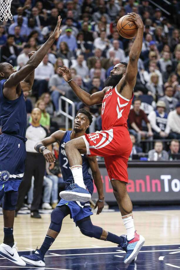 James Harden's soaring efforts weren't enough to earn the Rockets a road victory at Target Center on Saturday night. Photo: Michael Ciaglo, Houston Chronicle / Houston Chronicle / Michael Ciaglo