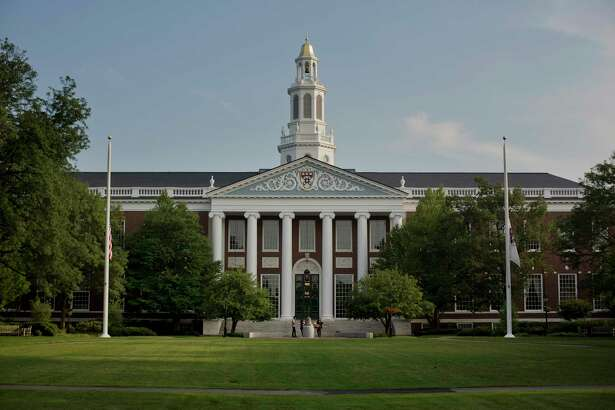 The Baker Library of the Harvard Business School stands on Harvard University campus in Cambridge, Massachusetts, on June 30, 2015.