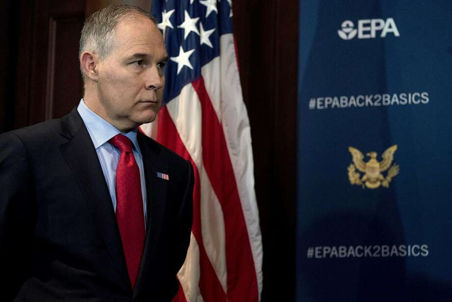 Environmental Protection Agency Administrator Scott Pruitt rented a luxury condo from a corporation co-owned by the wife of lobbyist Steven Hart. Photo: Andrew Harnik / Associated Press