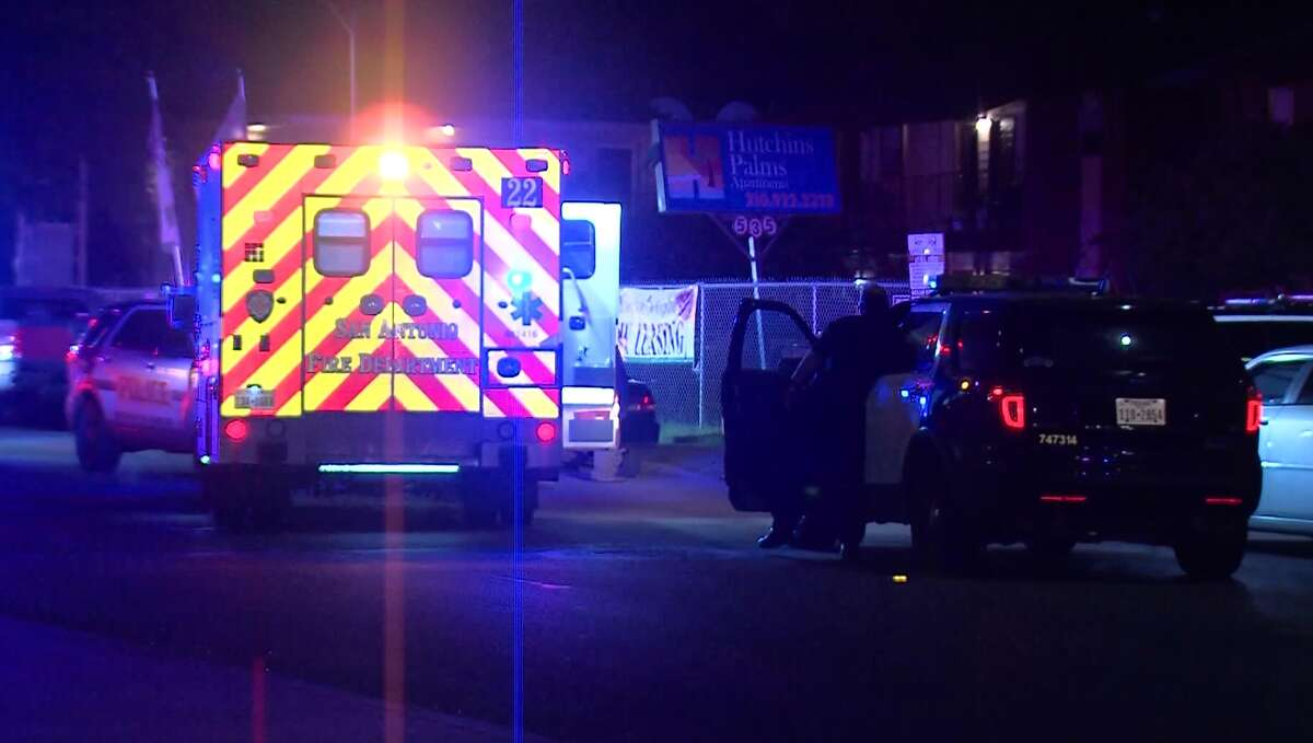 San Antonio police say a man was shot and killed Sunday morning, April 22, 2018, after he barged into a private residence looking for his ex-girlfriend.