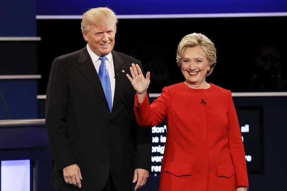 "One Republican strategist describes Hillary Clinton — here debating Donald Trump on Sept. 26, 2016, in Hempstead, N.Y. — as a ""very powerful motivator."" Photo: David Goldman / Associated Press 2016"