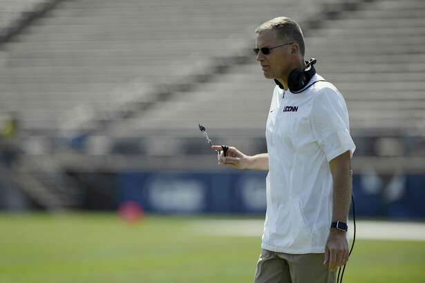 Randy Edsall and the UConn football team held a career fair on Sunday that gave current players a chance to connect with former players currently in the workforce.
