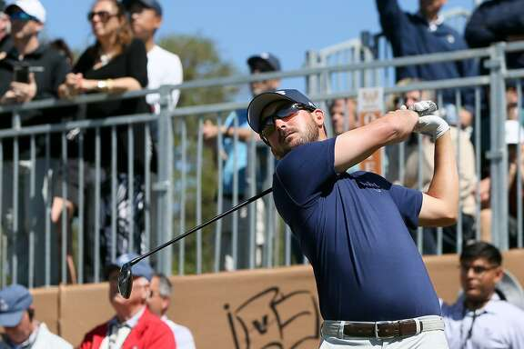 Andrew Landry tees off on the first hole during the final round of the Texas Open at TPC San Antonio on Sunday, April 22, 2018.  Landry shot a 4-under 68 on the final day, finishing 17-under to win the tournament, his first PGA Tour victory.  MARVIN PFEIFFER/mpfeiffer@express-news.net