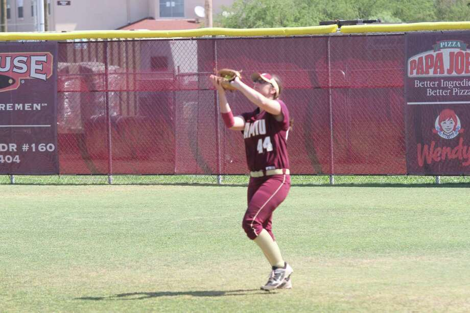 The Dustdevils dropped both of their Heartland Conference opening games falling 6-1 and 11-6 against Oklahoma Christian on Saturday in Laredo. TAMIU outfielder Maddison Schofield (4-4, R, 2 RBI, BB) was on base all five times during Game 2. Photo: Courtesy Of TAMIU Athletics, File