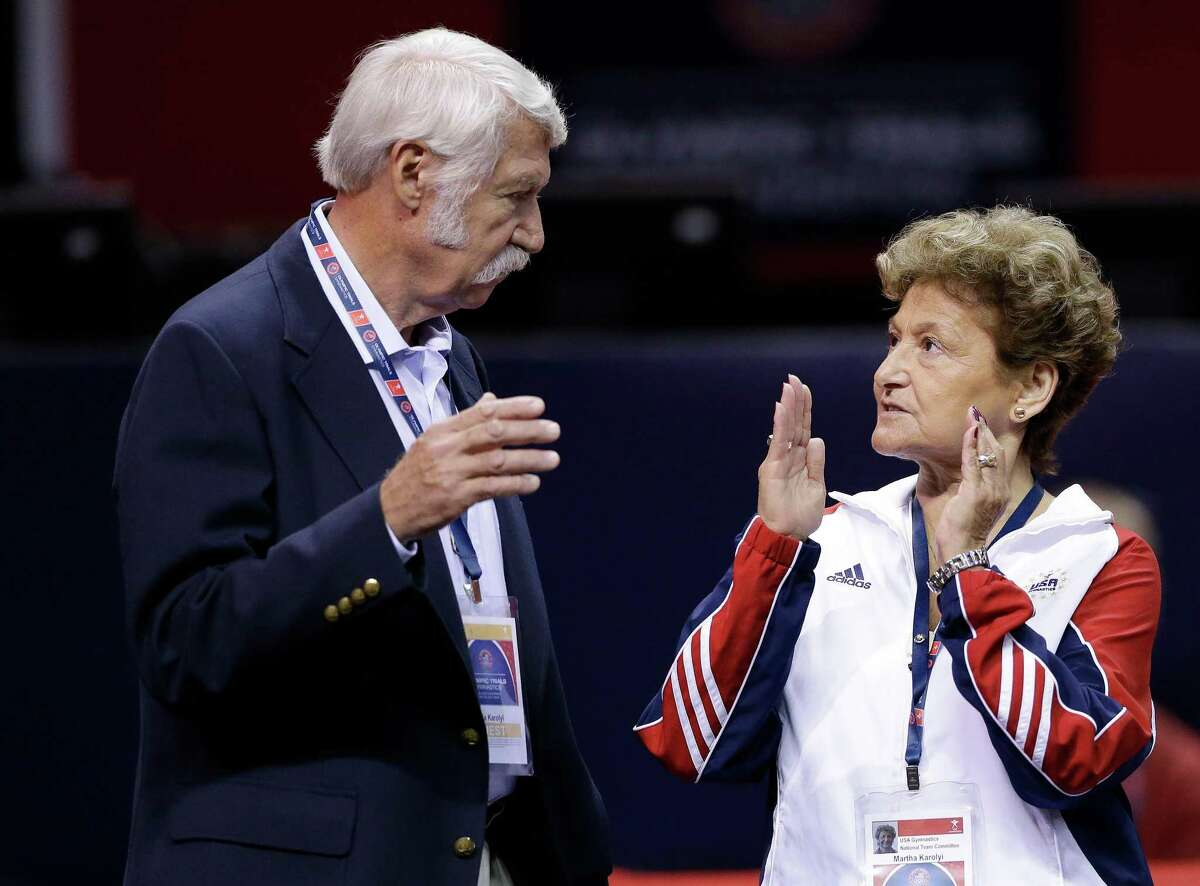 PHOTOS: Gymnastics prodigies of the Karolyis Bela and Martha Karolyi, shown in 2012, said they didn't know USA Gymnastics doctor Larry Nassar was sexually abusing athletes and also denied ever striking or verbally abusing a gymnast.