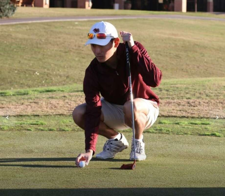Justin Kim had a pair of birdies Tuesday in the final round of the Heartland Conference Golf Championships. Photo: Courtesy Of TAMIU Athletics File