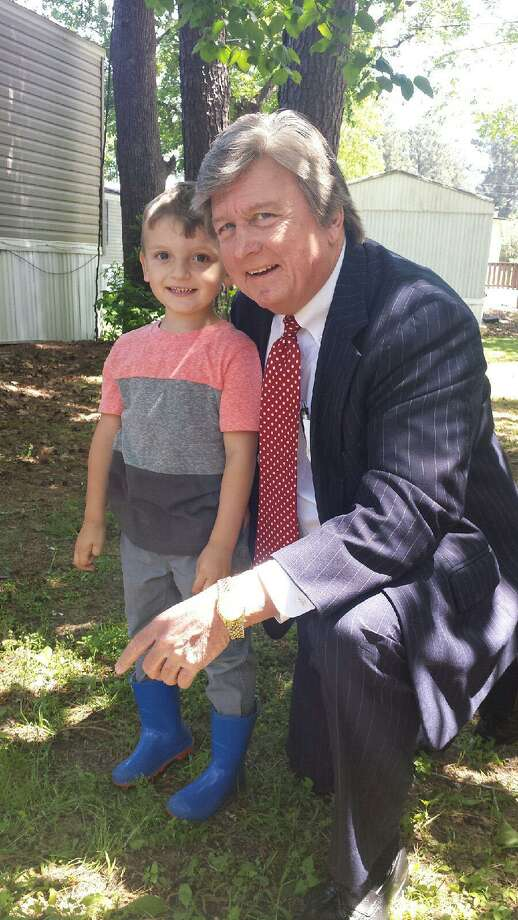 Baytown attorney Craig Muessig is pleased a Jefferson County jury decided in favor of his client, 4-year-old Rayden Meadows. The child's father was killed while changing a flat tire on I-10 in Beaumont in January 2016 by an alleged drunk driver. Photo: Submitted