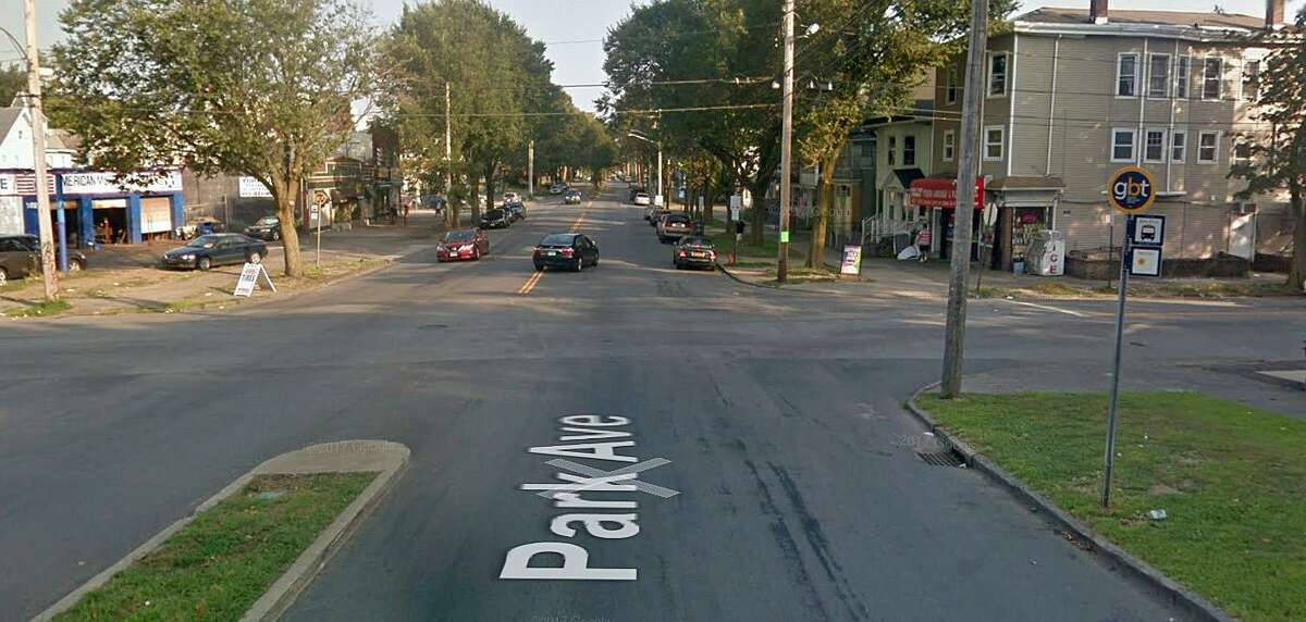 """This is the intersection of Park Avenue and Olive Street where Miranda Elienai. 20, of Bridgeport, was fatally injured in a motorcycle accident on Sunday, April 20, 2018. Danillo Andrade, the motorcycle operator, and passenger, Miranda Elienai, were traveling south on Park Avenue when he saw a white sedan slowly making a left turn from Olive Street onto Park Avenue, said Av Harris, police department spokesman. """"The black 2007 Suzuki GSX R 600 operator reduced speed, braking several times before slamming into the Dodge Intrepid's driver's rear door. Both motorcycle occupants were ejected."""""""