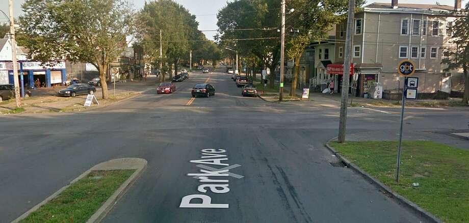 "This is the intersection of Park Avenue and Olive Street where Miranda Elienai. 20, of Bridgeport, was fatally injured in a motorcycle accident on Sunday, April 20, 2018. Danillo Andrade, the motorcycle operator, and passenger, Miranda Elienai, were traveling south on Park Avenue when he saw a white sedan slowly making a left turn from Olive Street onto Park Avenue, said Av Harris, police department spokesman. ""The black 2007 Suzuki GSX R 600 operator reduced speed, braking several times before slamming into the Dodge Intrepid's driver's rear door. Both motorcycle occupants were ejected."" Photo: Google Street View Image"