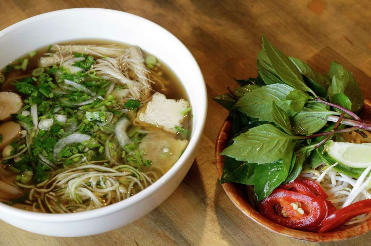 Vegan pho at Les Noo'dle, 1717 Montrose. The owners of the former Les Ba'get have changed the focus of their Montrose restaurant to specializing in pho.