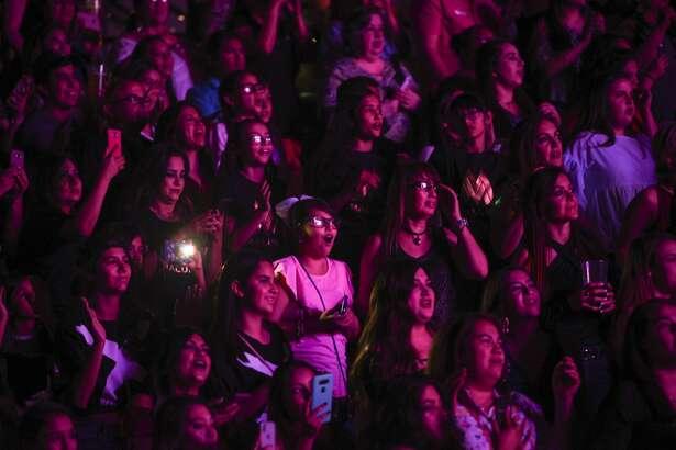 Laredoans attend the Maluma concert on Saturday, Apr. 23, 2018 at the Laredo Energy Arena.