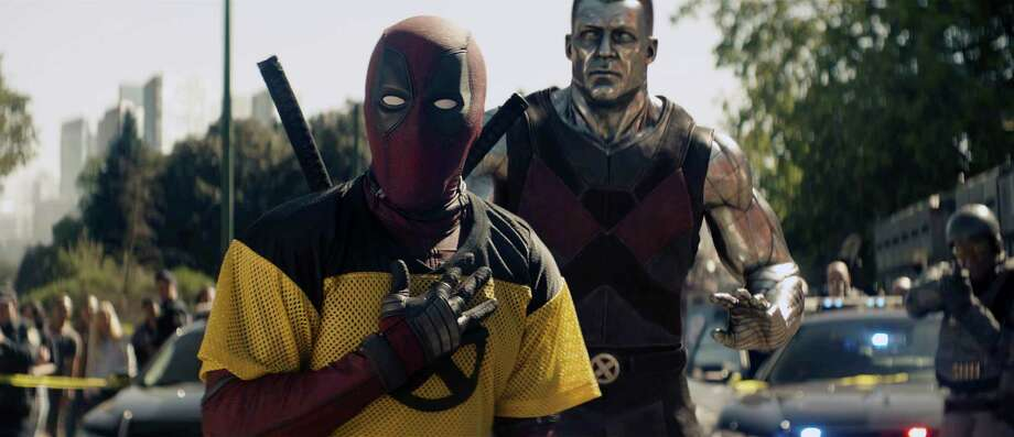 """This image released by 20th Century Fox shows a scene from """"Deadpool 2,"""" premiering on May 18. (20th Century Fox via AP) Photo: AP / 20th Century Fox"""