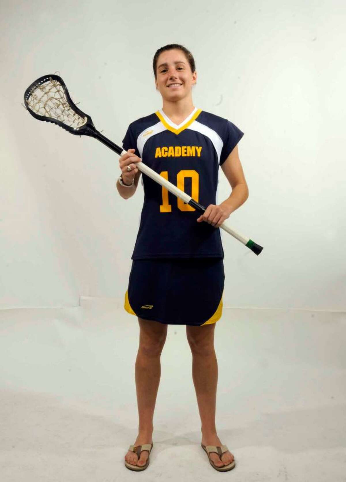 Caroline Gersuk, Albany Academy senior lacrosse player. (Michael P. Farrell / Times Union )