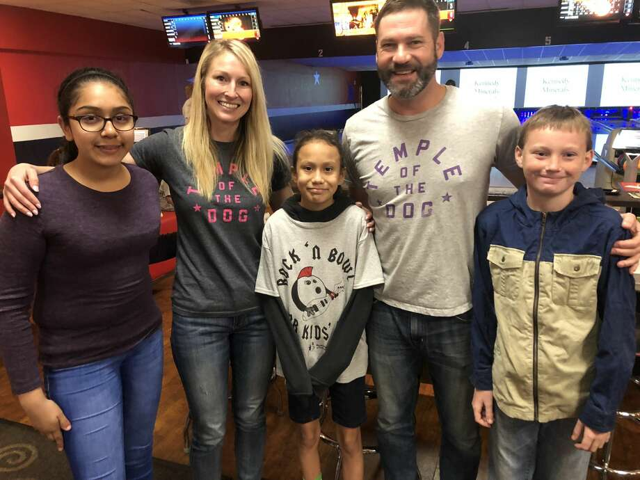 Bowl for Kids' Sake:  Jasmine Vasquez, from left, Jessica Decker, Kilye Portillo, Ty Baker and Hayden Hilliard Photo: Courtesy Photo