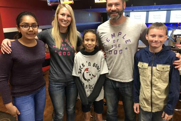 Bowl for Kids' Sake:  Jasmine Vasquez, from left, Jessica Decker, Kilye Portillo, Ty Baker and Hayden Hilliard