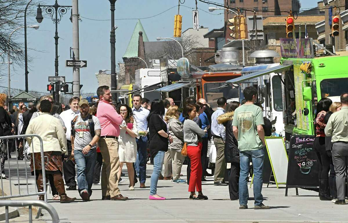 Take my kids to the food trucks in downtown Albany.