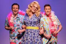 """Headliners in """"Priscilla, Queen of the Desert"""" are, from left: Jason Parry as Tick/Mitzi, Lance Anthony as Bernadette and Tim Rinaldi as Adam/Felicia through May 20 at Downtown Cabaret Theatre of Bridgeport."""
