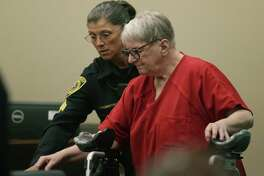Genene Jones appears in court Wednesday at a hearing for a speedy trial in San Antonio. On Monday, the judge denied a request to dismiss five new murder indictments against the convicted child killer.