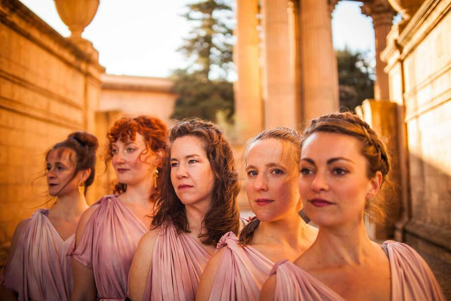 "We Players stages ""Roman Women"" at the Palace of Fine Arts' rotunda. Photo: Lauren Matley / We Players"