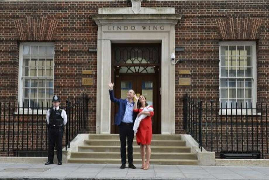 Britain's Prince William and Kate, Duchess of Cambridge, posed with their newborn son. and their newborn son outside the Lindo Wing at St Mary's Hospital in Paddington, London Monday April 23, 2018. (Dominic Lipinski/PA via AP) Photo: Dominic Lipinski / Associated Press