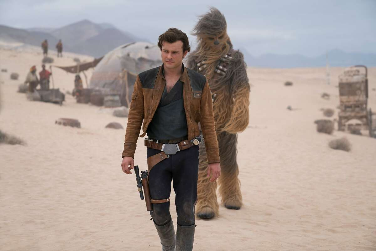 """Alden Ehrenreich and Joonas Suotamo appear in a scene from """"Solo: A Star Wars Story,"""" in theaters on May 25."""