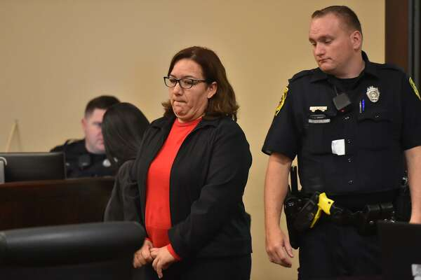 Adriana Aviles, convicted in the hit-and-run death of Adina Muñoz, arrives in court for the punishment phase of her trial Monday morning.
