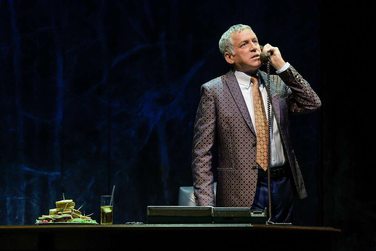 """Stephen Spinella as Roy Cohn in Berkeley Repertory Theatre�s production of """"Angels in America, Part One: Millennium Approaches."""""""