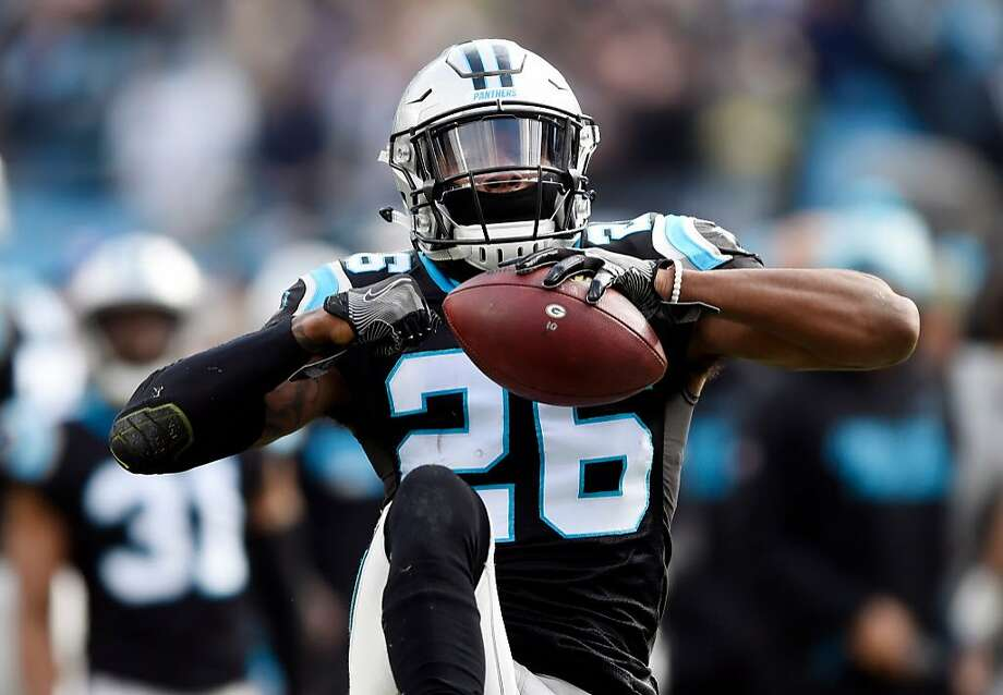FILE - This Dec. 17, 2017 file photo shows Carolina Panthers' Daryl Worley (26) celebrating his interception against the Green Bay Packers during the first half of an NFL football game in Charlotte, N.C. The Philadelphia Eagles have released Worley hours after he was arrested. NFL Network reported that Worley was arrested Sunday, April 15, 2018 near the team�s practice facility and that police used a Taser on him after he became combative. The Eagles traded wide receiver Torrey Smith to the Carolina Panthers for Worley in March. (AP Photo/Mike McCarn) Photo: Mike McCarn, Associated Press