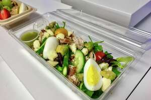 This economy class Cobb salad was a show stopper. I hope it becomes part of the new menu!