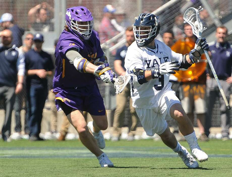 The Yale men's lacrosse team jumped to No. 1 in the latest Inside Lacrosse national media poll after Sunday's win over Albany. Photo: Brian A. Pounds / Hearst Connecticut Media / Connecticut Post