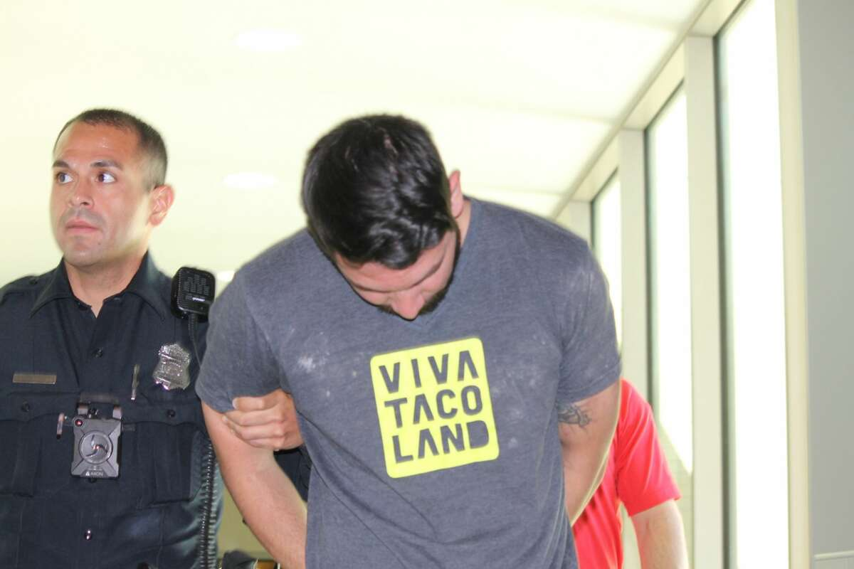 Dillonger Hackett, 30, is accused of sexual assault.