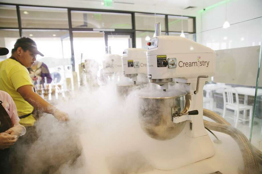 Creamistry uses liquid nitrogen to make its ice cream. Photo: Creamistry / Creamistry