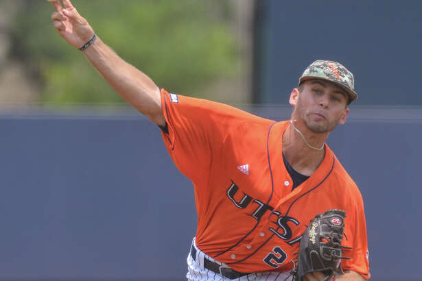 UTSA pitcher Justin Anderson throws to the plate versus Rice Sunday afternoon.