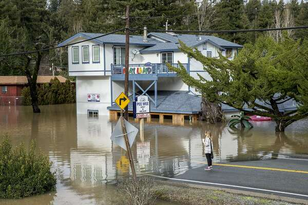 The 2017 Russian River flood in Guerneville, Calif. A new UN climate report says we have about 12 years to do something huge on climate change.