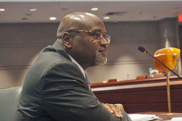 Nominated for chief justice, Supreme Court Justice Richard A. Robinson of Stratford answered questions from the Judiciay Committee at the Capitol in Hartford, Conn. on Monday April 23, 2018.
