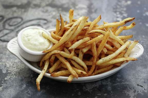 French fries with aioli at a'Bouzy in River Oaks