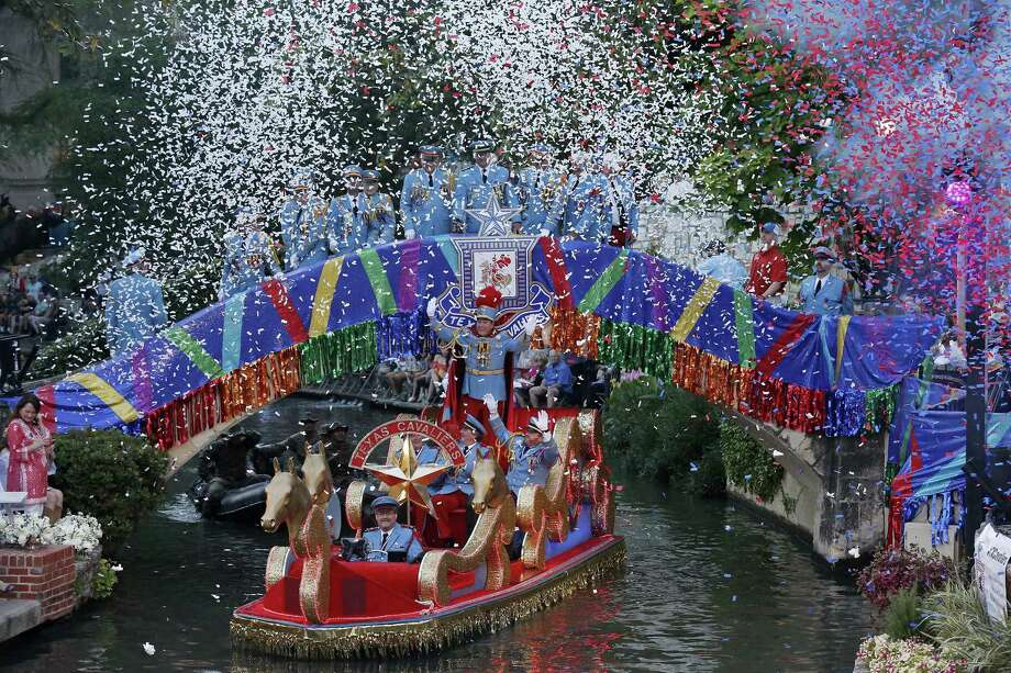 >>>Your guide to Fiesta San Antonio's parades.>>> Texas Cavaliers River Parade: 7-9 p.m., April 22