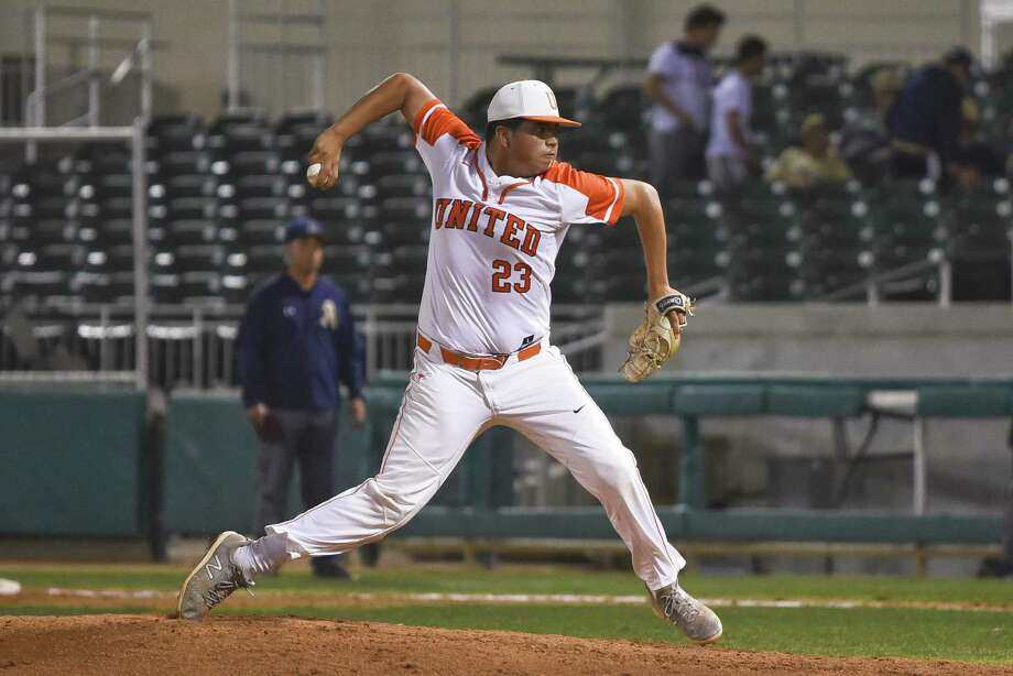 Adrian Castillo will start for United in Game 1 Thursday against McAllen. Castillo pitched a no-hitter in his last outing allowing just two walks in a 10-0 win over Alexander in five innings. Photo: Danny Zaragoza /Laredo Morning Times File / Laredo Morning Times