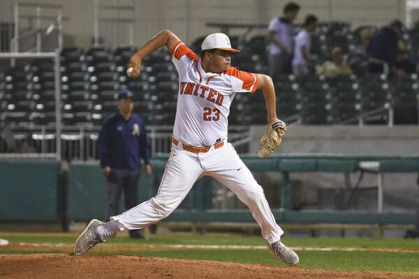 Adrian Castillo pitched a no-hitter for United Monday holding Alexander to a pair of walks as the Longhorns won 10-0 in five innings at Uni-Trade Stadium.