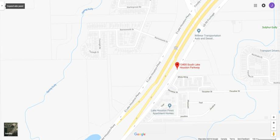 FILE - A screenshot of a Google Maps image of the 13400 block of South Lake Houston Parkway in Houston, Texas. Early Sunday, deputies found a body inside an abandoned car in the area. Photo: File/Google