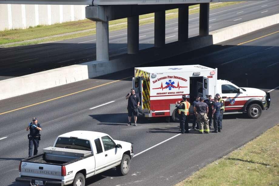 Fatal crash involving pedestrian closes lanes of I-35N near
