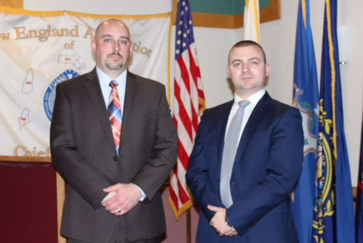 The Justice System Training and Research Institute at Roger Williams University in Bristol, Rhode Island, along with the New England Association of Chiefs of Police, recently recognized Officers Joseph E. O'Brien and Christopher Varone of the Clinton Police Department.