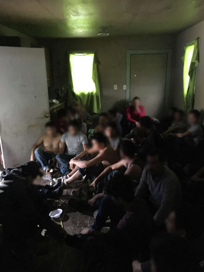 Weslaco Border Patrol agents located 39 illegal aliens after searching a home near Edcouch, Texas on April 19. Photo: Courtesy CBP