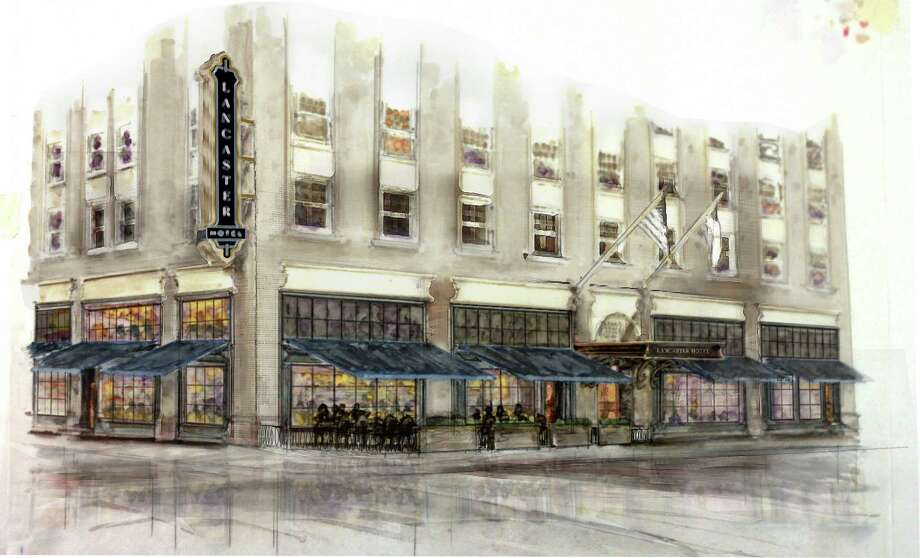 Artist renderings of the renovated Lancaster Hotel in downtown Houston. New owners purchased the hotel a month before Hurricane Harvey. It took on 17 feet of water that filled its basement and went into its lobby and destroyed all of its HVAC and electrical equipment. The hotel will reopen August 2018. Photo: Lancaster Hotel